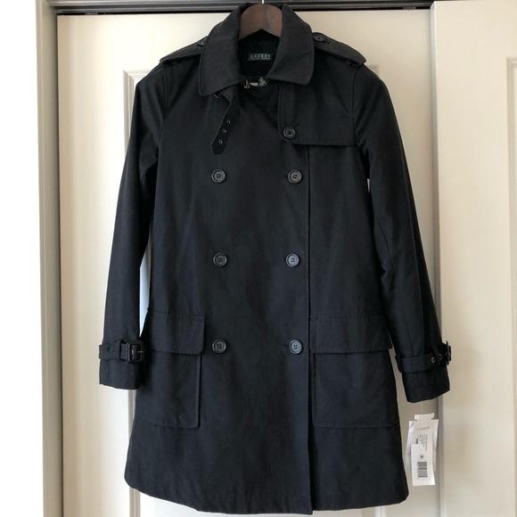 Ralph Lauren Jackets & Blazers - Ralph Lauren Black Trench coat Raincoat Peacoat